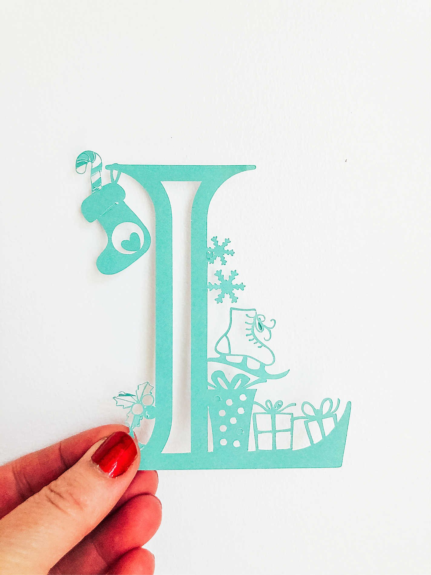 Christmas paper cut letters to download for Christmas projects