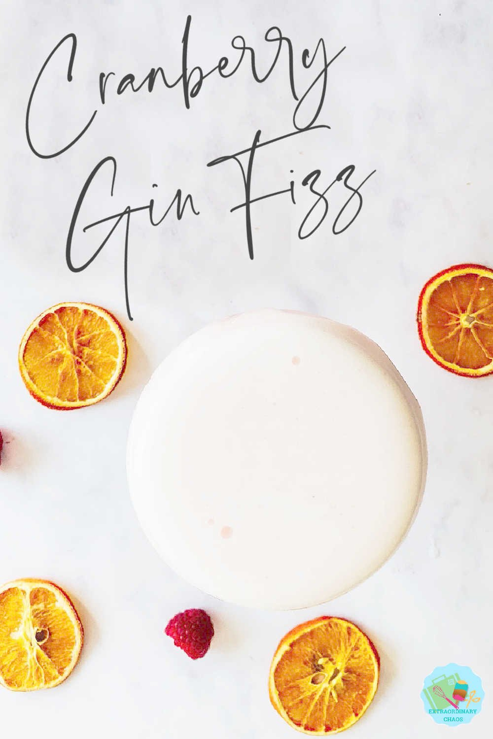Cranberry Gin Fizz Cocktail for summer and winter parties -2