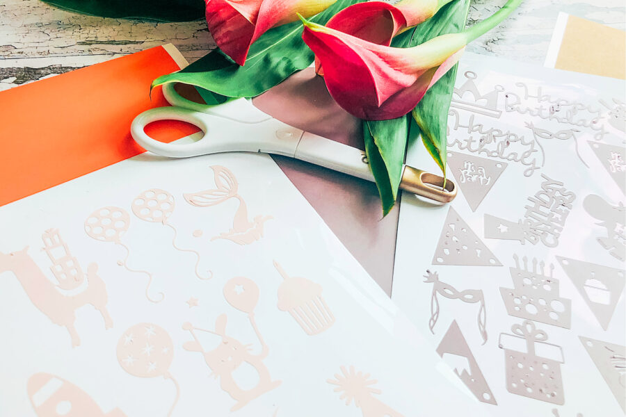 Cricut planner stickers for Birthdays to decorate cards, plates, balloons and party invites