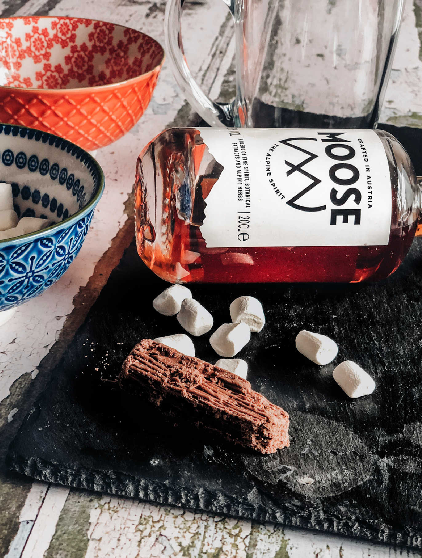 Easy boozy hot chocolate with Moose