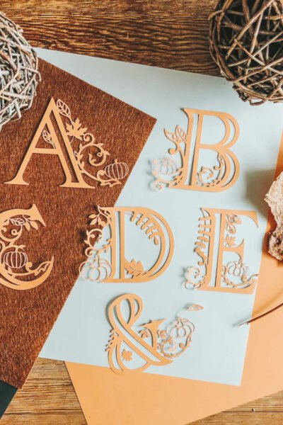 Free Cricut Autumn Alphabet letters for paper and vinyl projects