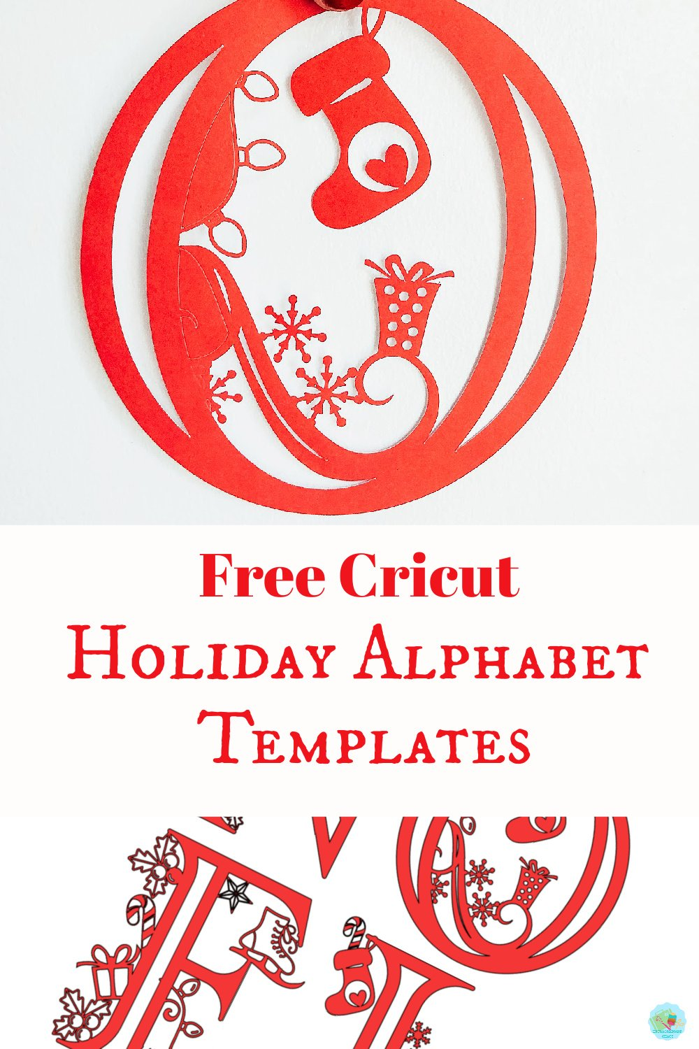 Free Cricut Holiday Template for Christmas craft projects on paper and vinyl to make gifts of craft projects to sell -3