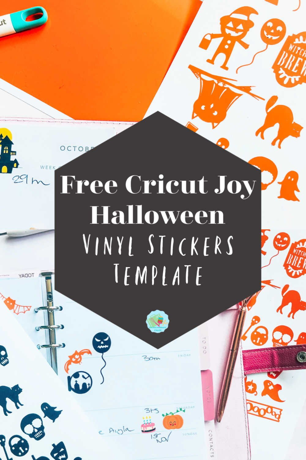 Free Cricut Joy Halloween Vinyl Stickers Template To Download and cut out, for trick or treating, Halloween Crafts and spooking planner stickers -2