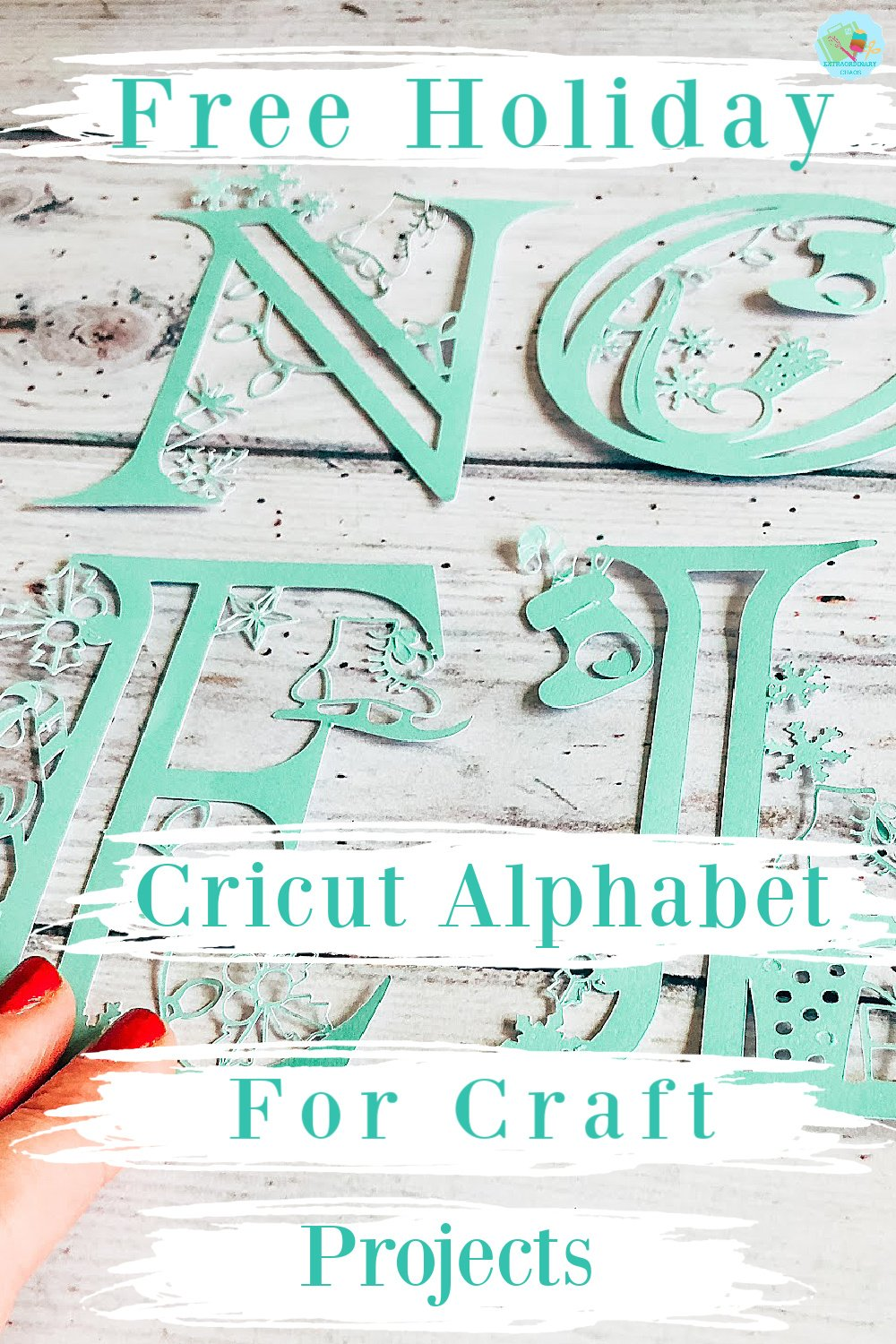 Free Holiday Cricut Alphabet For Craft Projects to make as gifts or Christmas home projects and to sell
