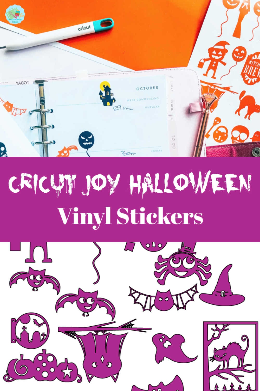 Halloween Cricut Joy Vinyl Planner Stickers