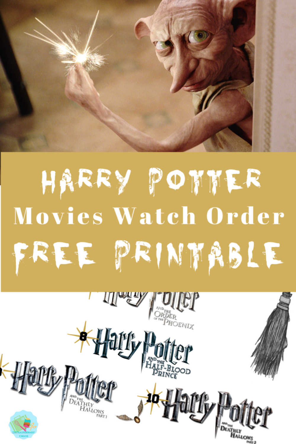 Harry Potter Free Printable Movies Watch Order