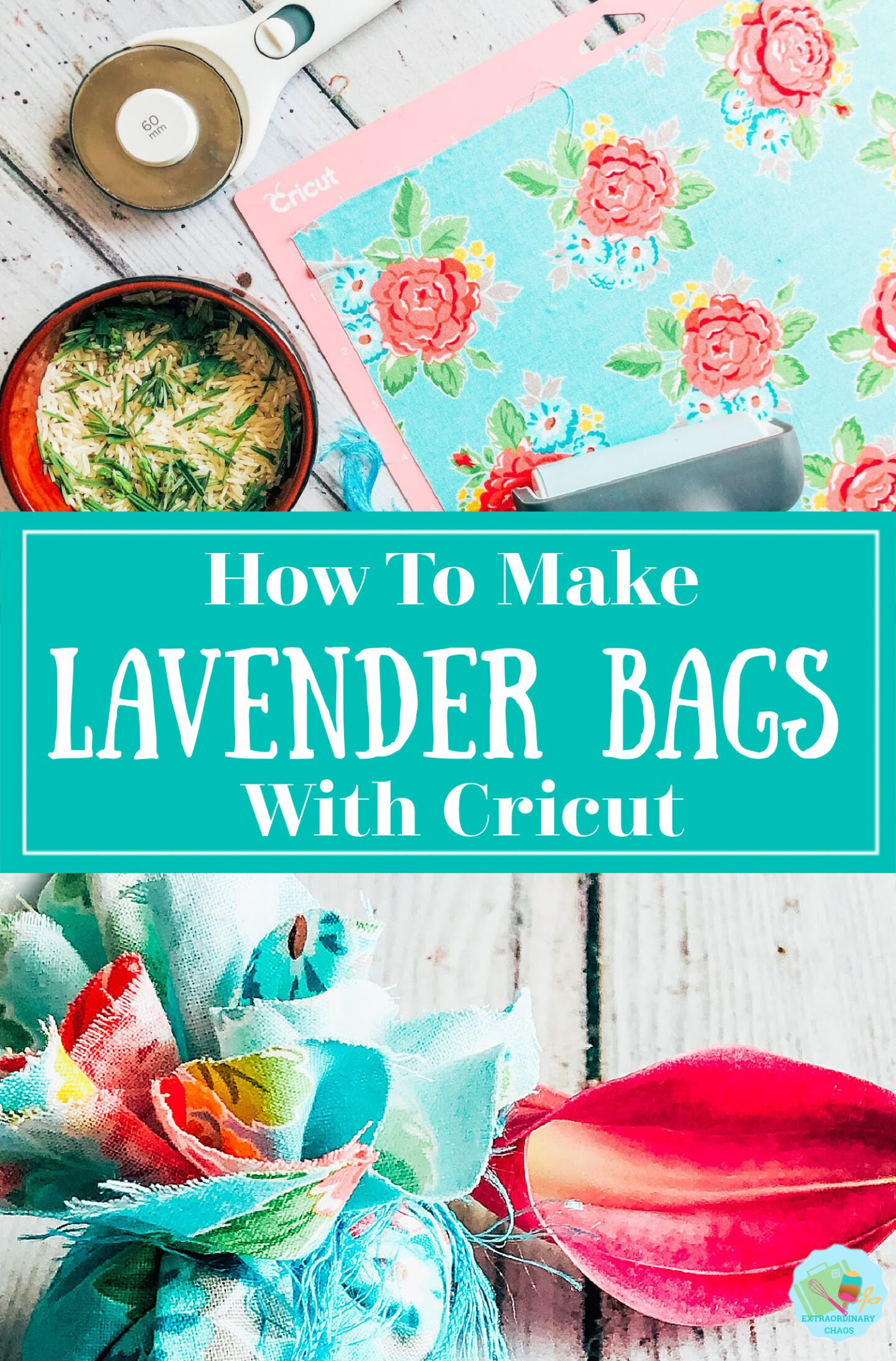 How to make homemade Lavender sachets to refresh draws, but by your bed or repel flies with a Cricut Maker