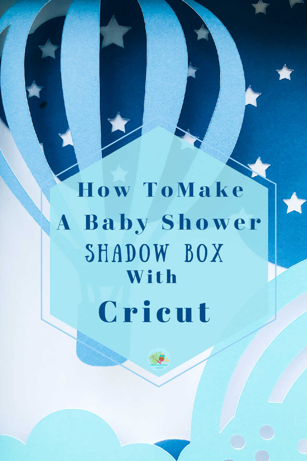 How to make a Baby shower Shadow Box In Cricut Design Space -3