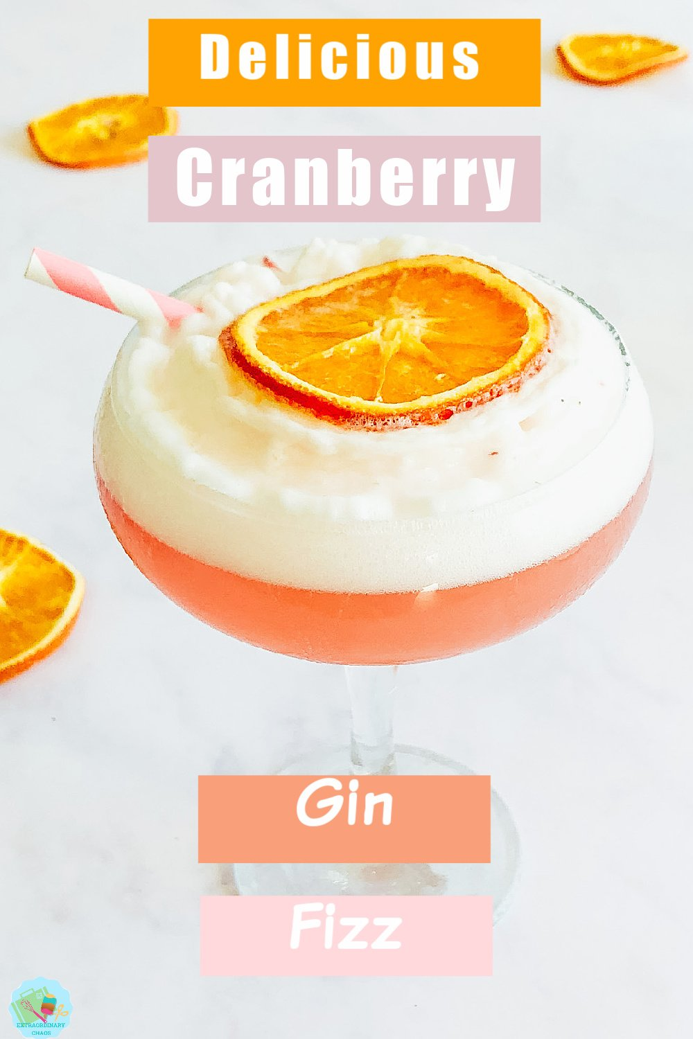 How to make a Cranberry Gin Fizz Cocktail