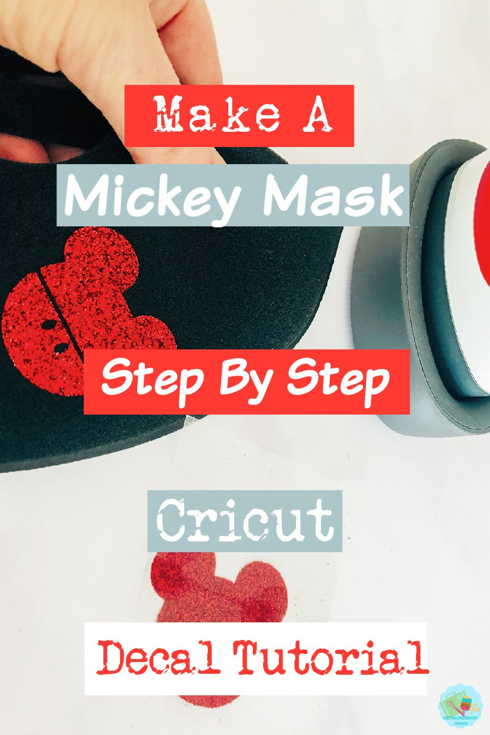 How to make a Mickey Decal For A Face Mask With Cricut