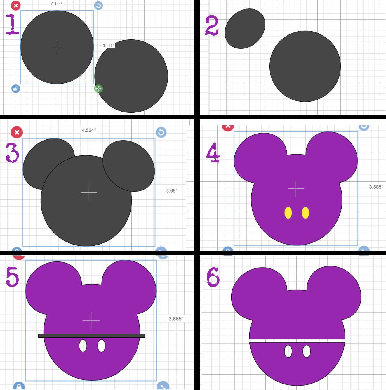 How to create a Free Cricut Mickey Mouse Template
