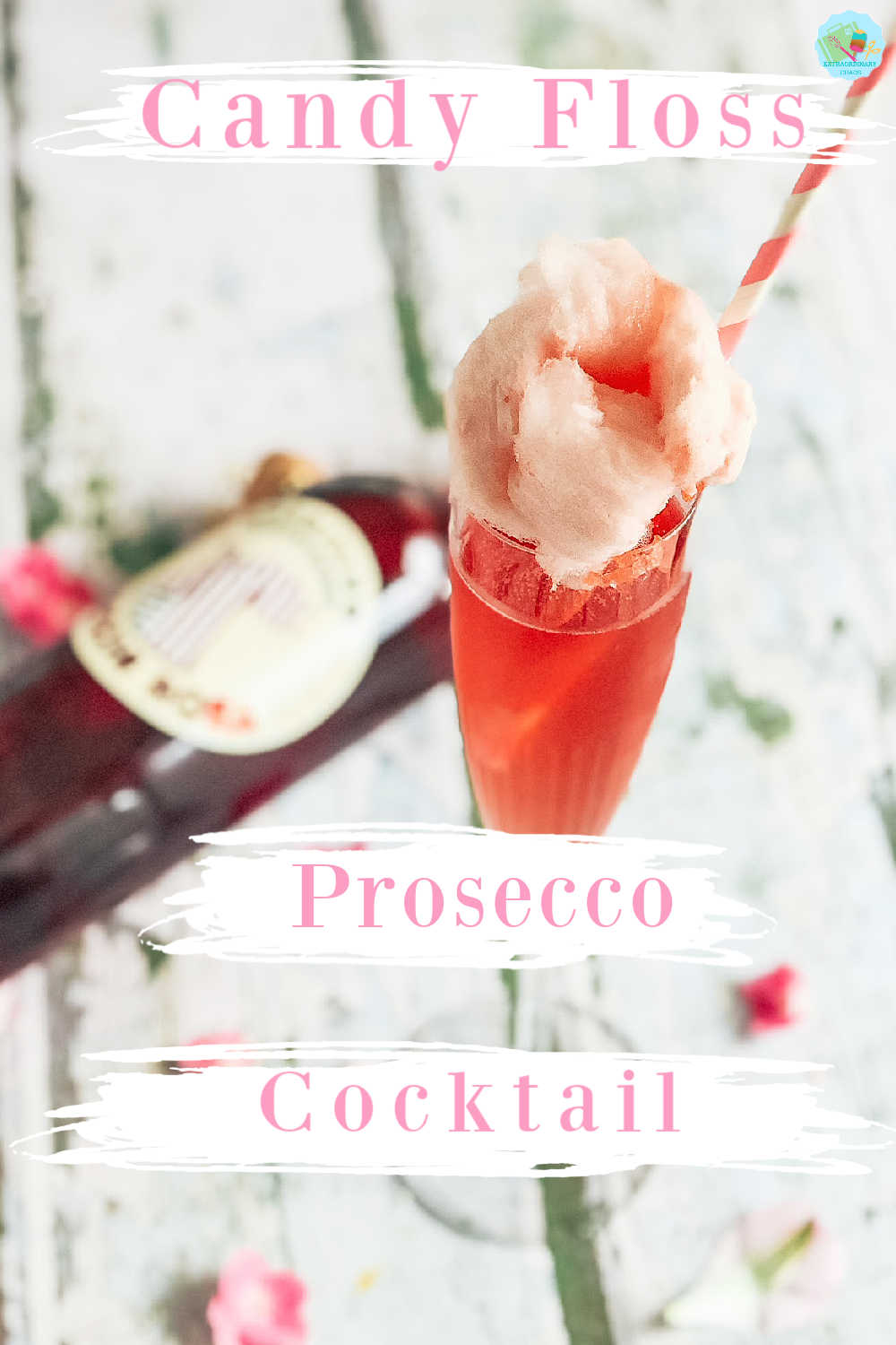 How to make a candy floss and Prosecco pink cocktail recipe