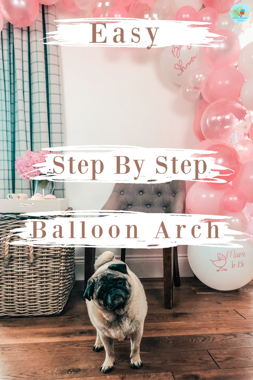 How to make an easy step by step balloon arch for parties, baby showers and bridal showers.