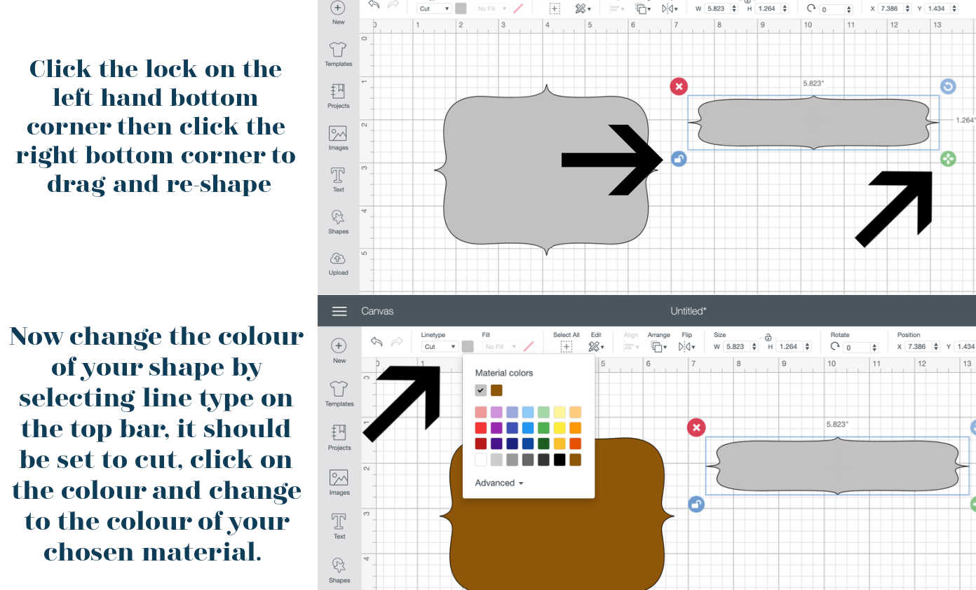 How to resize a shape in Cricut Design Space