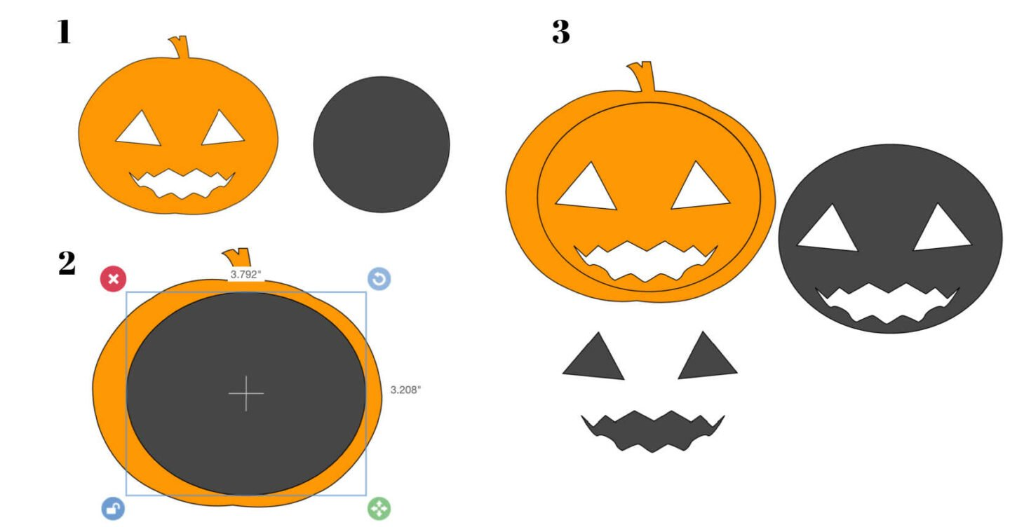 How to slice a pumpkin face in Cricut Design Space