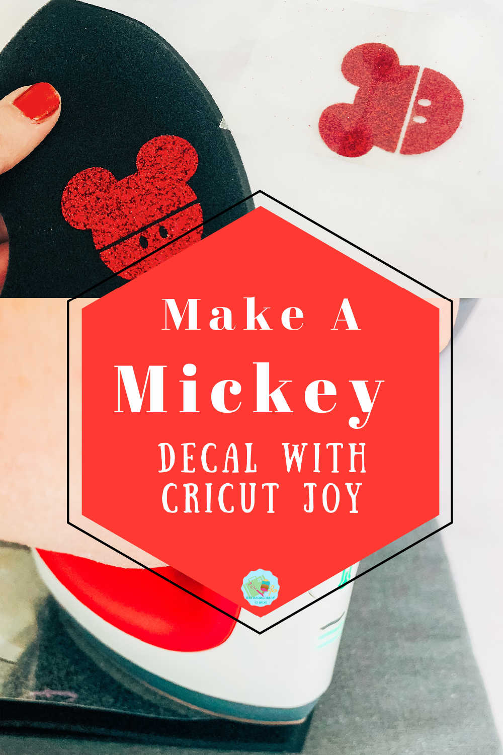 Make a Mickey Mouse Mask Decal With Cricut Joy and Iron on Vinyl