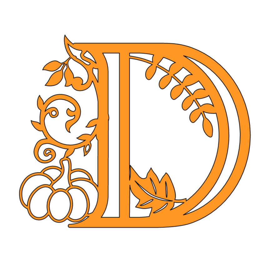 Letter D Fall Template