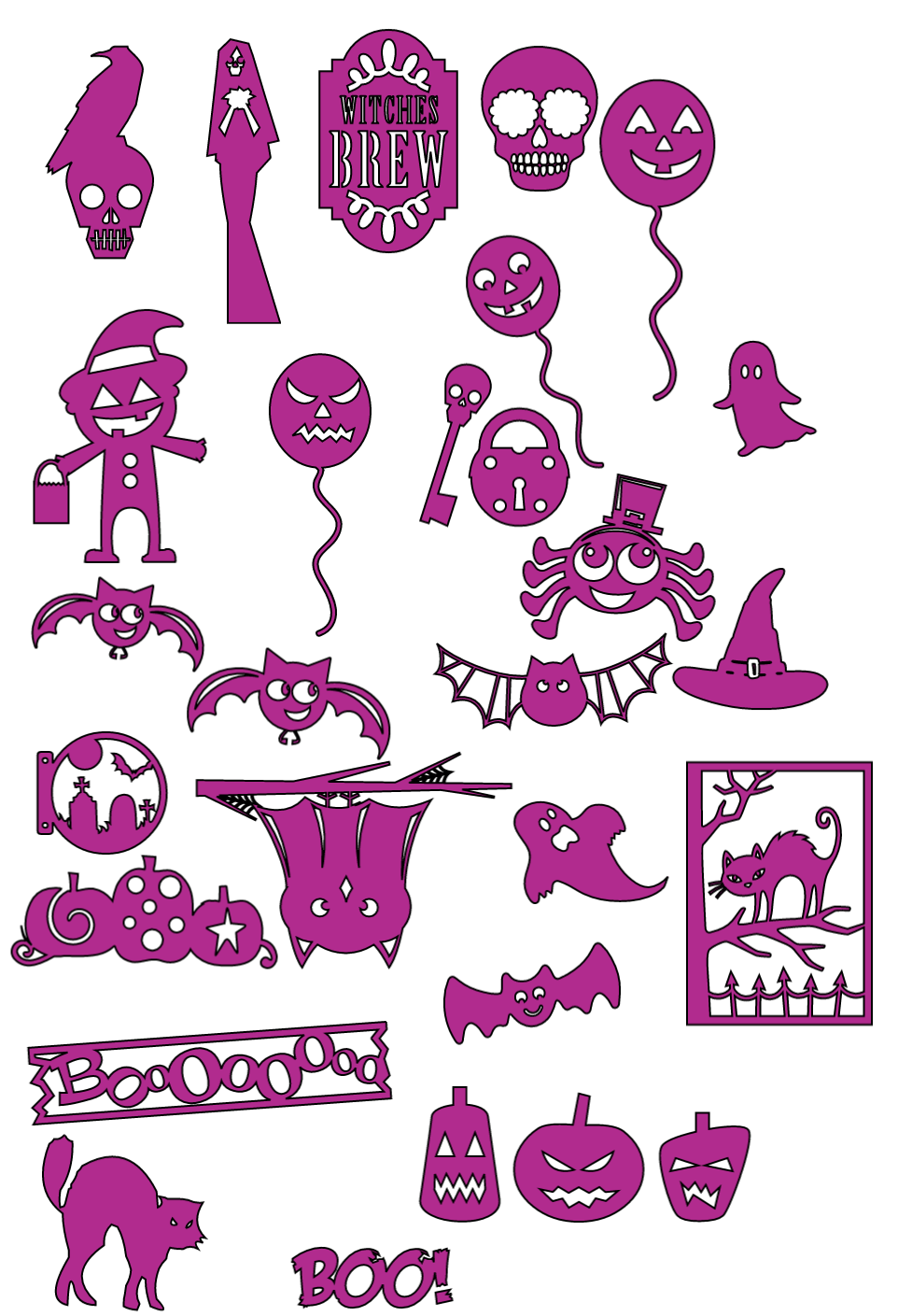 Halloween Stickers Free Template