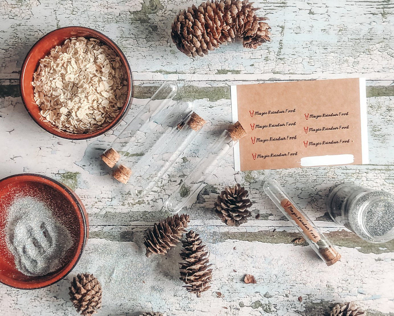 What you need to make magic reindeer dust tubes for Christmas Eve