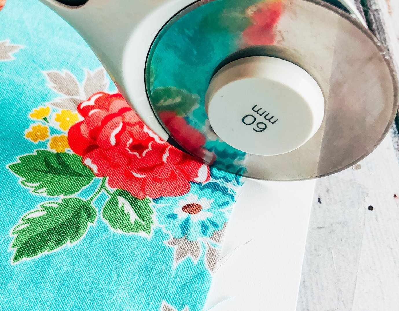 cut the fabric to size with your rotary cutter