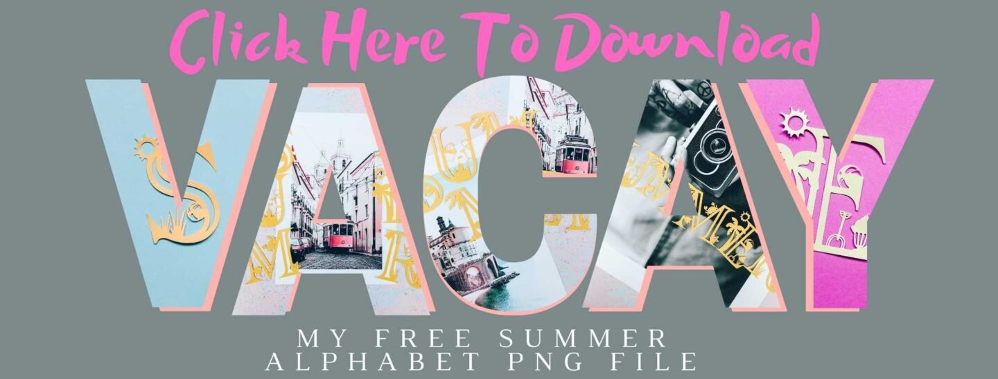 Click to download your free Summer Alphabet PNG