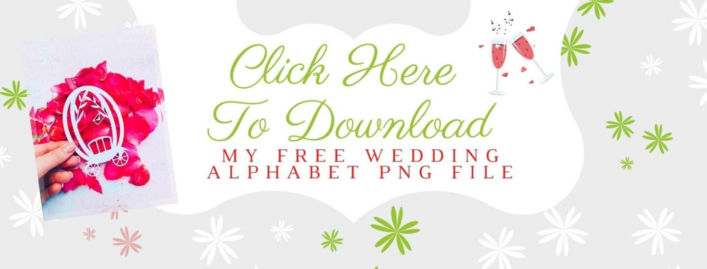 Click to download your free Wedding Alphabet PNG