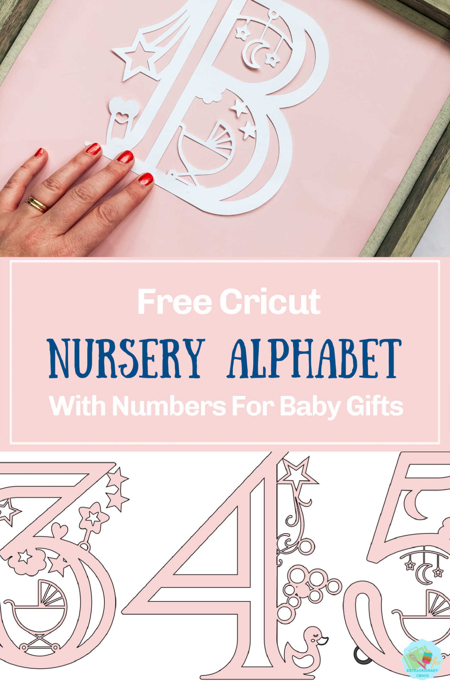 Free Cricut Baby Alphabet With Numbers For Baby Showers and nursery decor-2