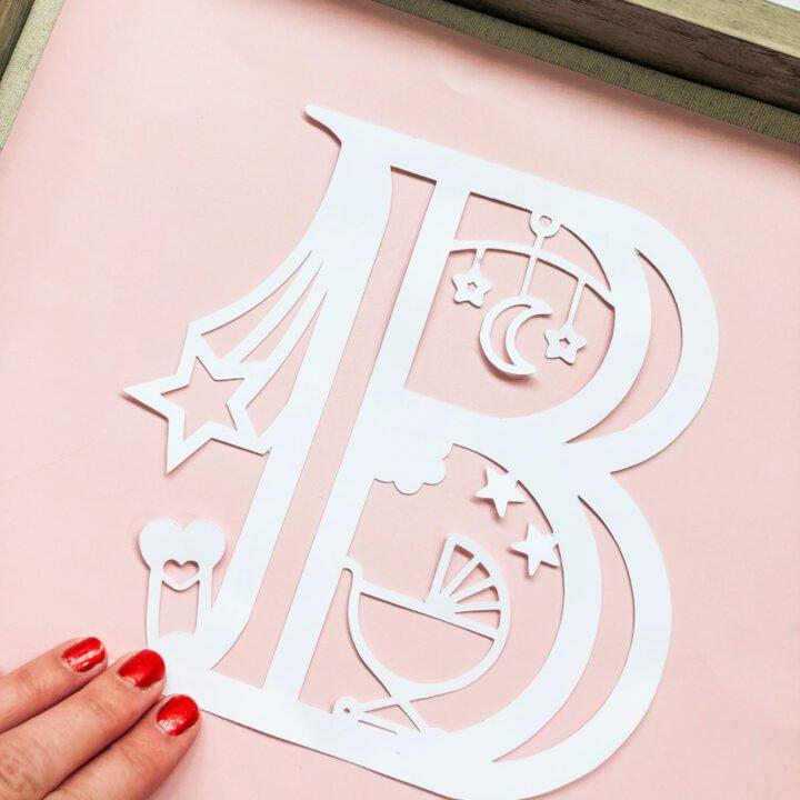 Free Cricut Baby alphabet letters