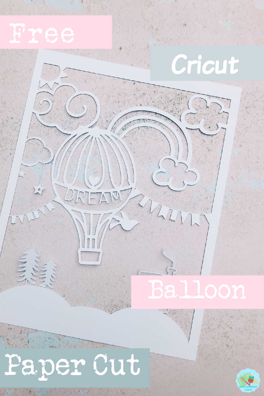 Free Balloon file to create personalised artwork for babies rooms