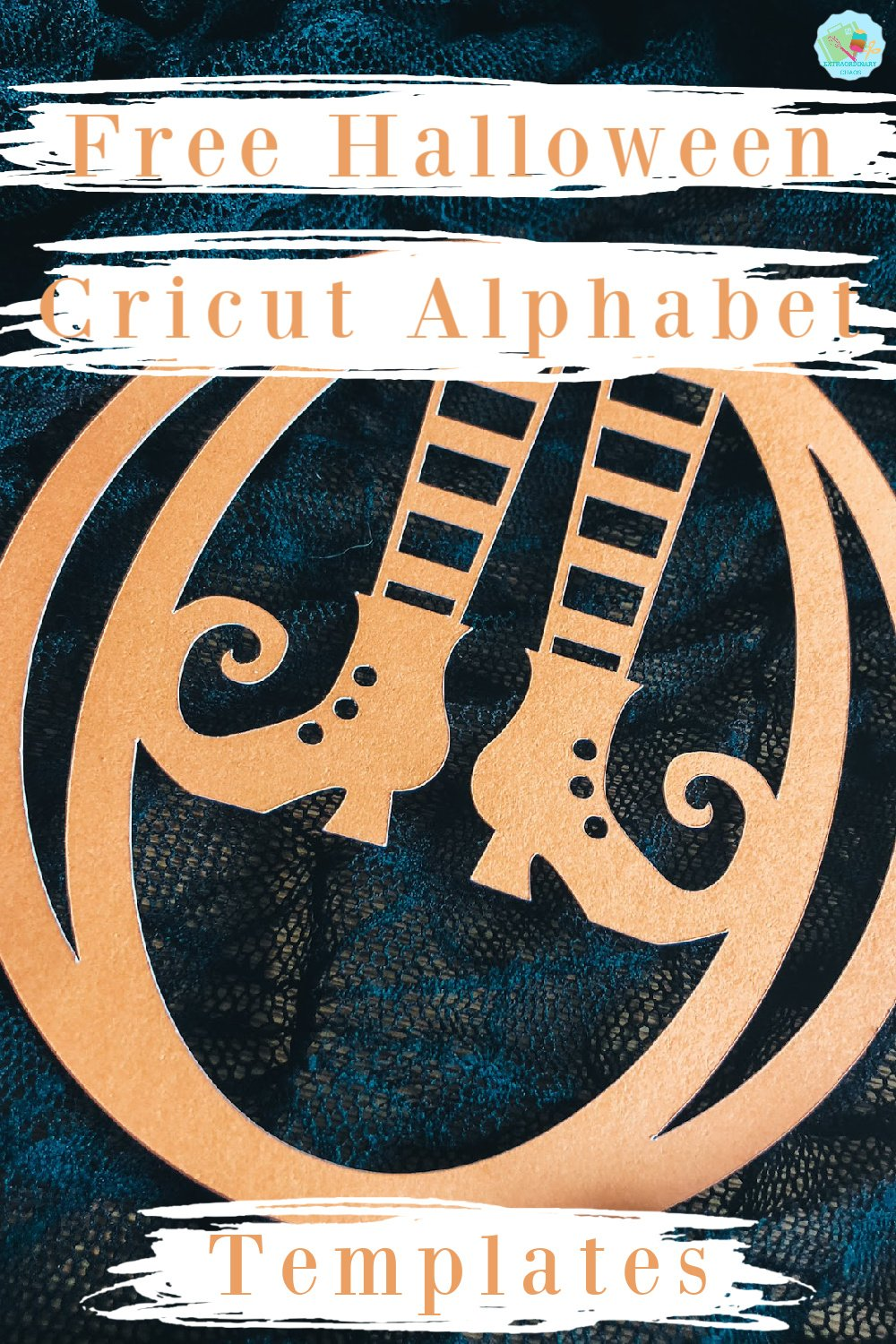 Free Cricut Halloween Alphabet Templates to make as gifts or Halloween Spooky home projects and to sell
