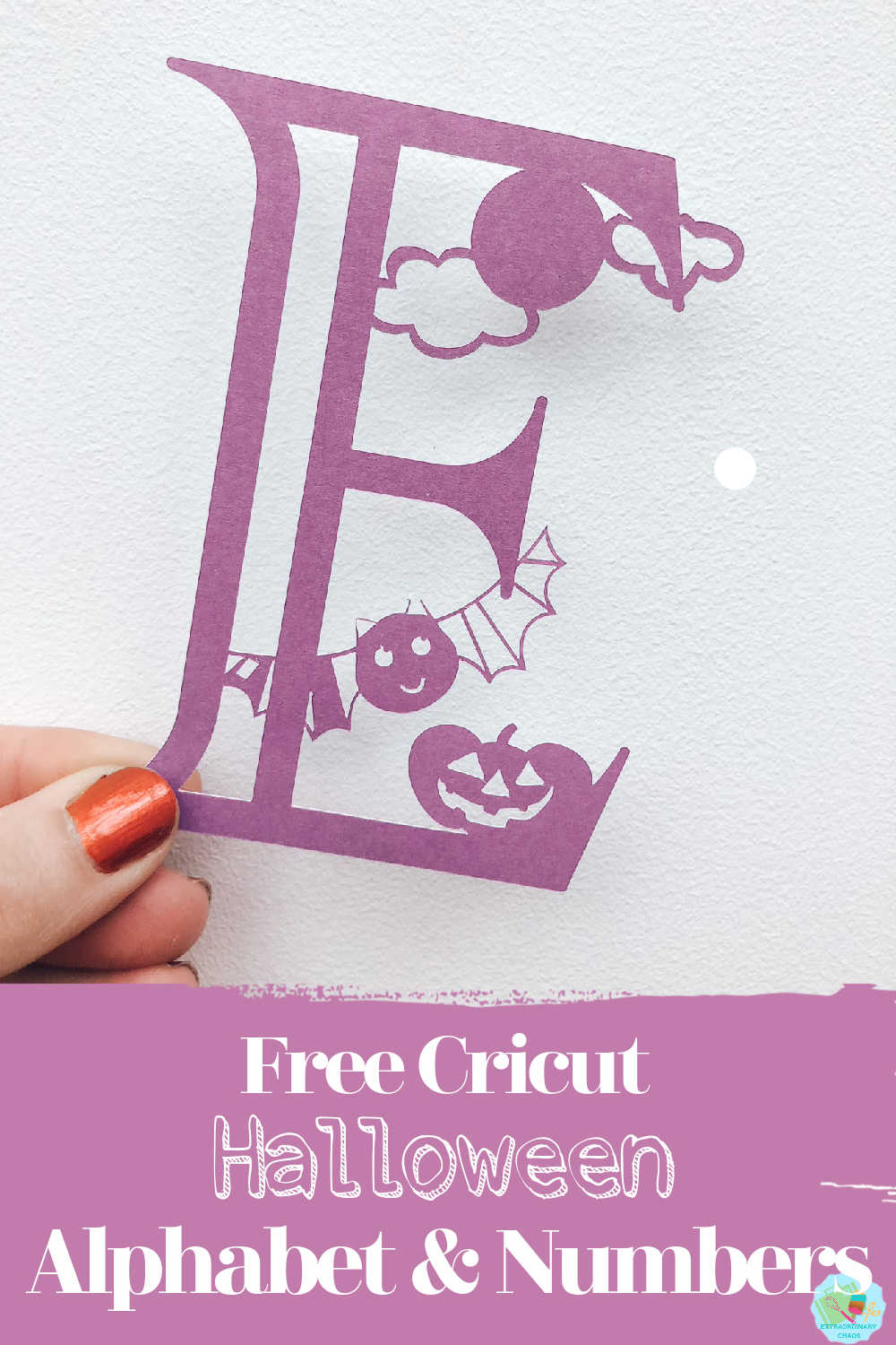 Free Cricut Halloween Alphabet and also numbers for Halloween crafts and parties to make Halloween Decorations