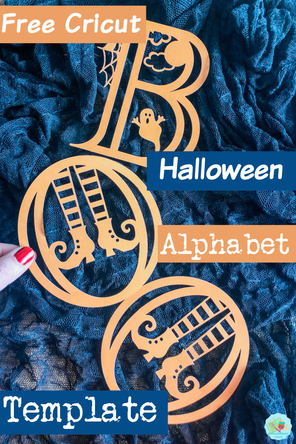 Free Cricut Halloween Alphabet for Cricut Halloween crafts , creating decorations and trick or treating