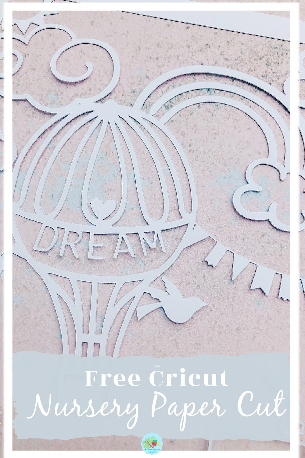 Free Cricut Hot Air Balloon cut for scrapbook projects or framing
