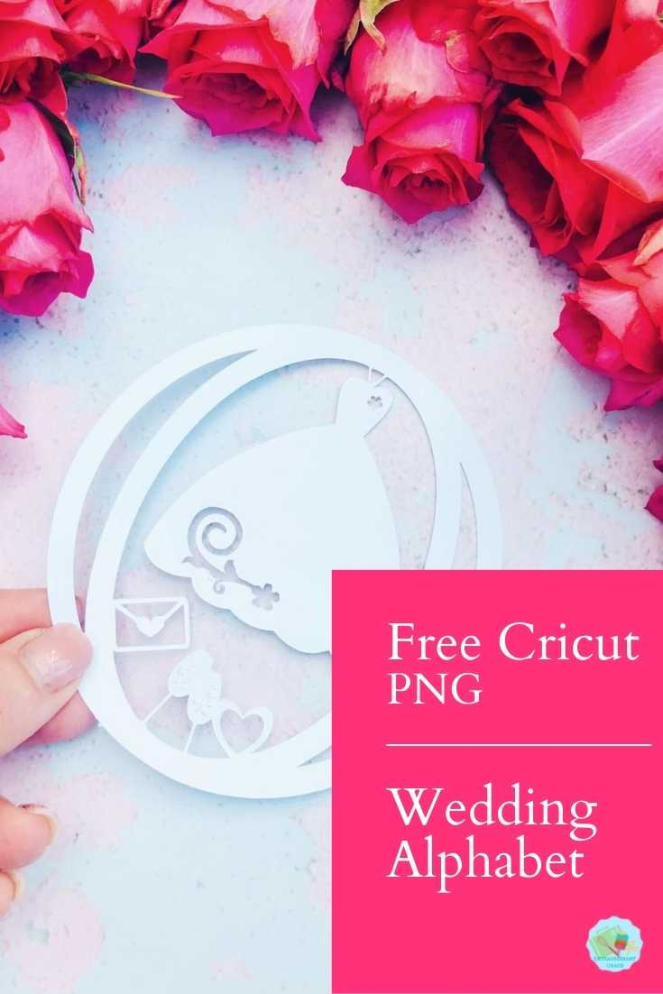 Free Cricut PNG Wedding Alphabet for wedding projects with Cricut