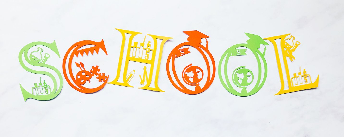 Free Cricut School Alphabet