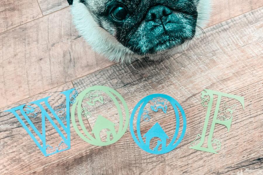 Free Dog Alphabet Set for crafting