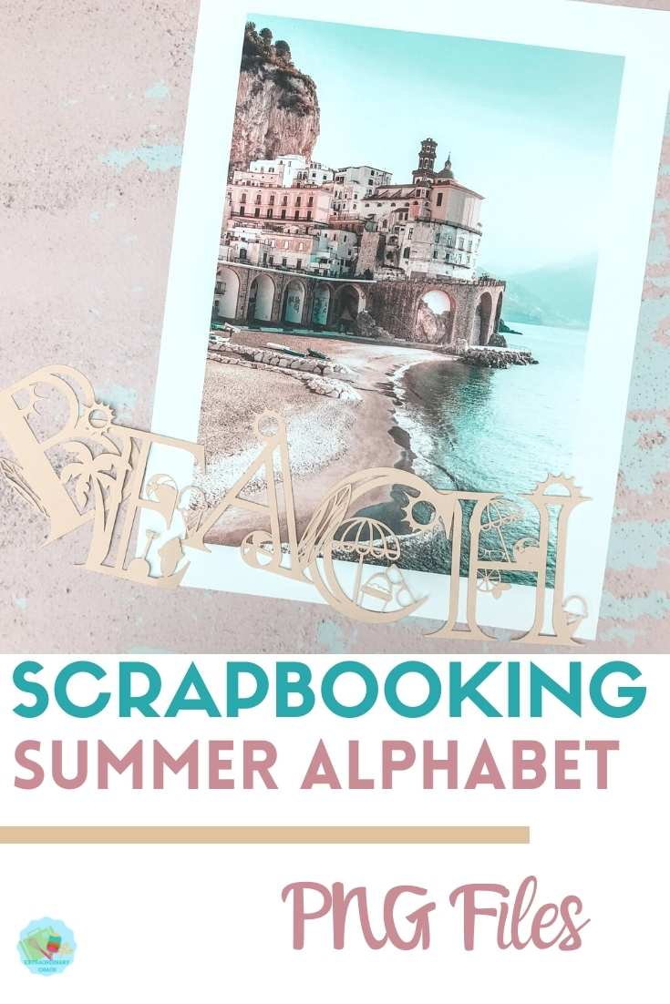 Free downloadable scrapbooking png files summer alphabet and numbers