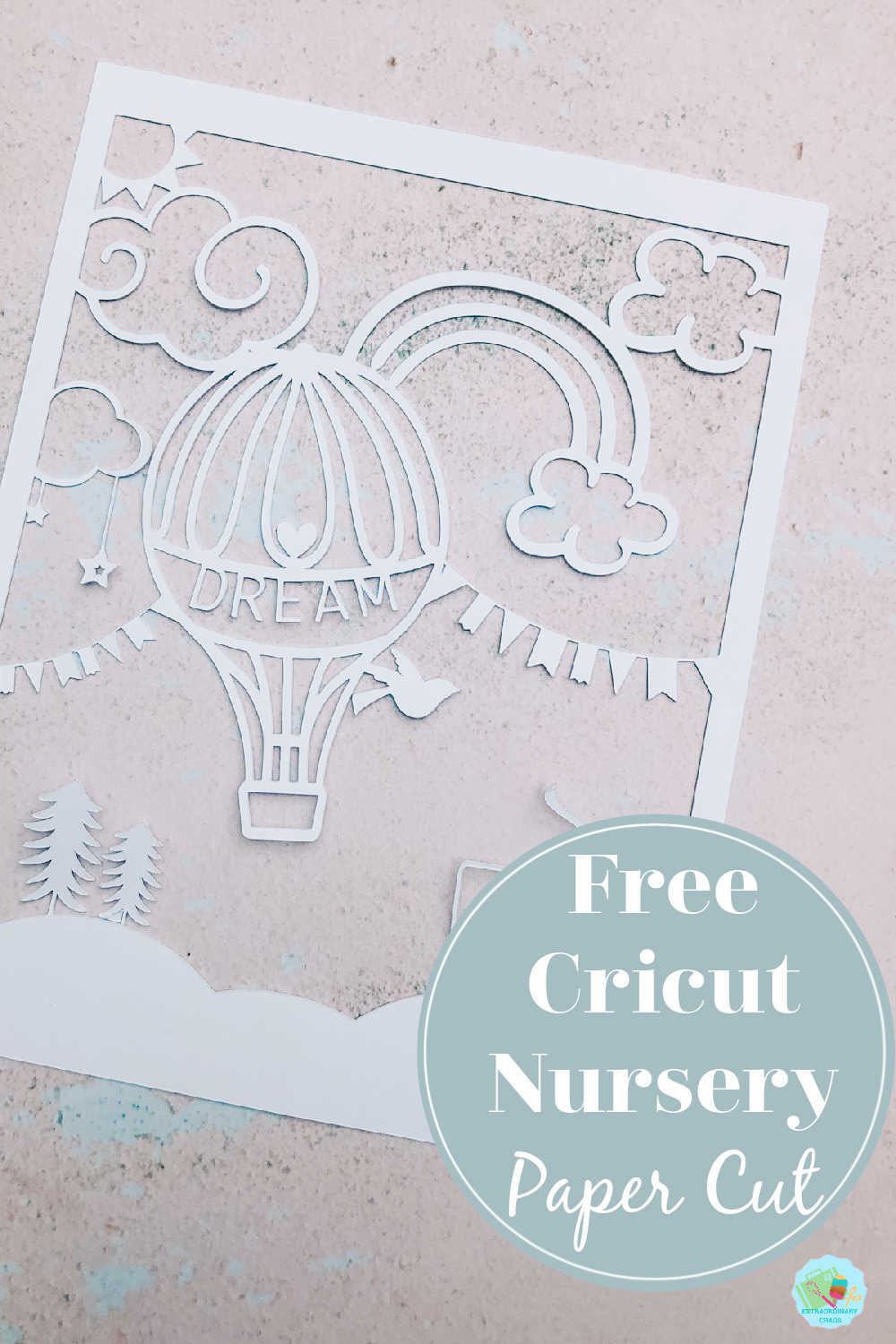 How To Make A Cricut Nursery Balloon Paper Cut And Free Download
