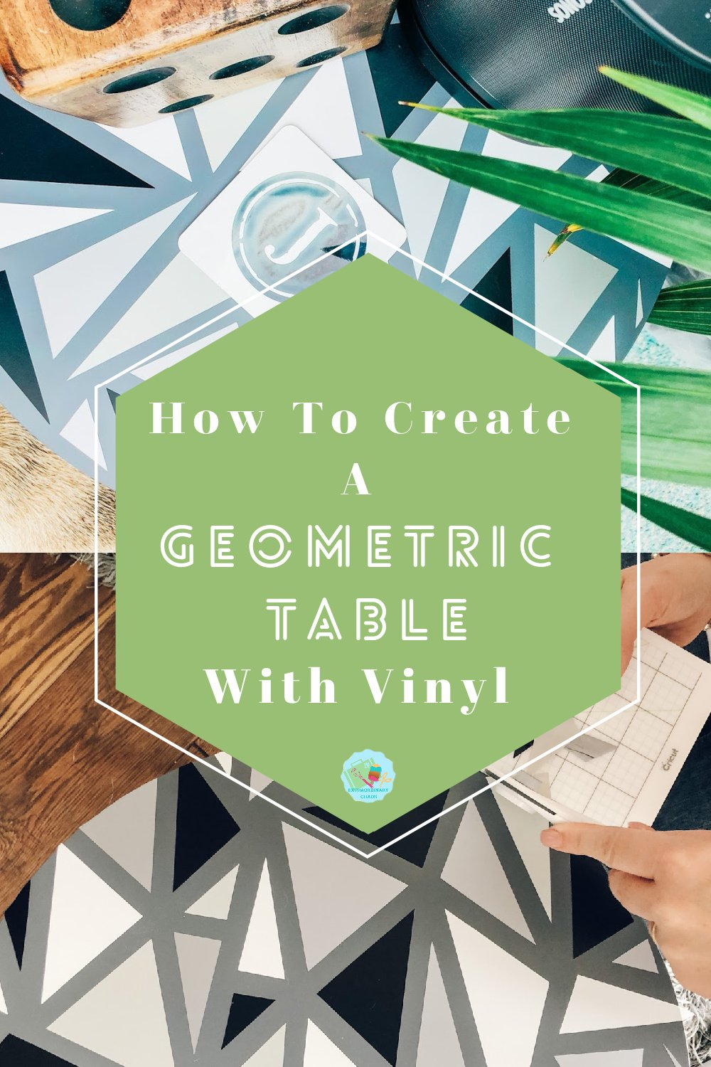 How to create a geometric table and be able to up cycle furniture with Cricut