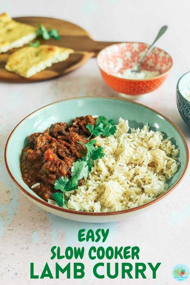 How to make and easy slow cooker lamb curry with coconut milk