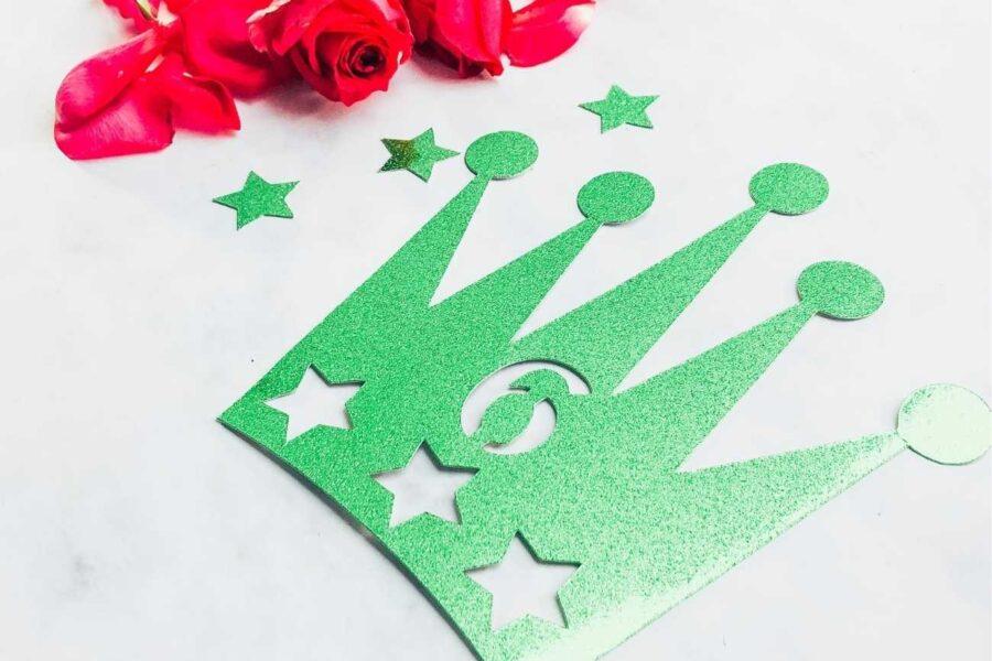 Prince or princess Crown Cake topper