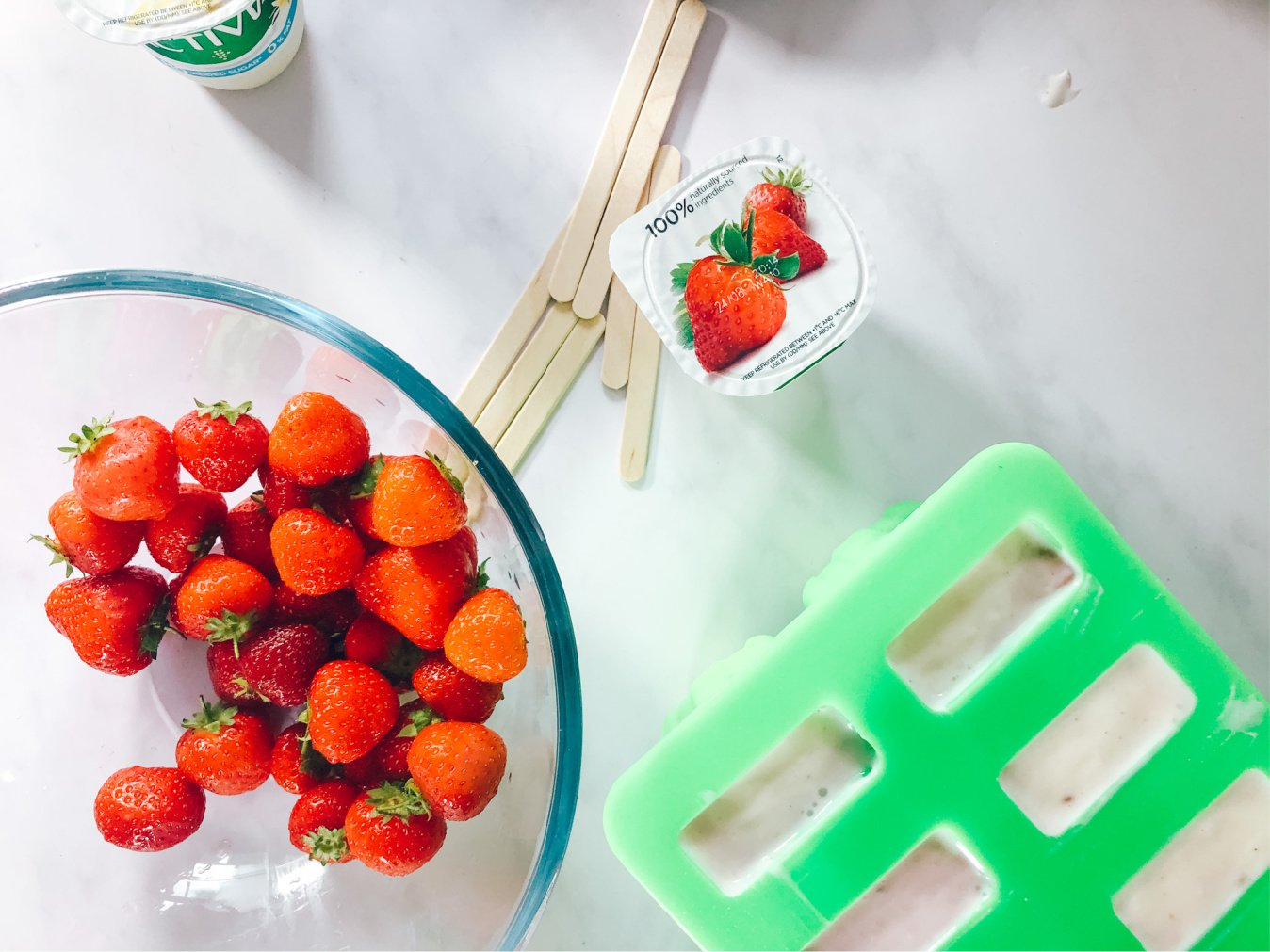 Recipe For Frozen Strawberry Yoghurt Ice Lollies