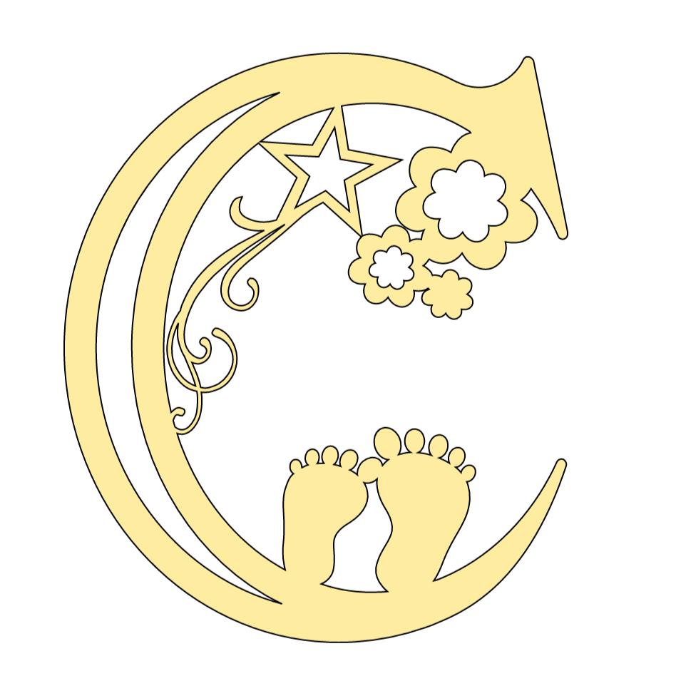 Cricut Baby Alphabet Letter C