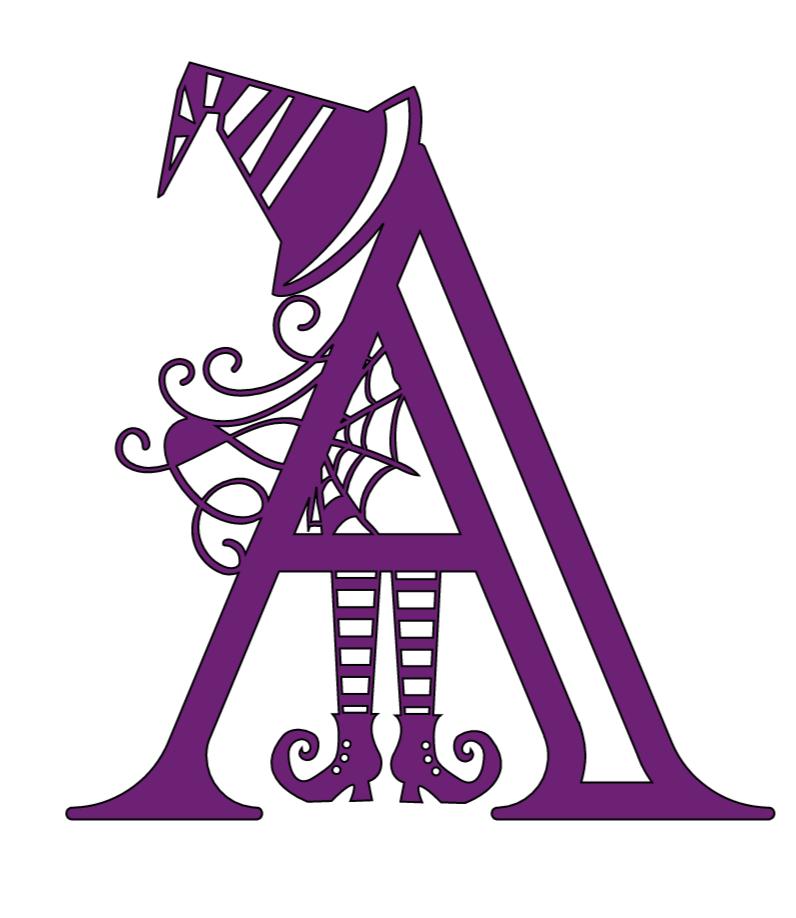 Cricut Halloween Alphabet, A