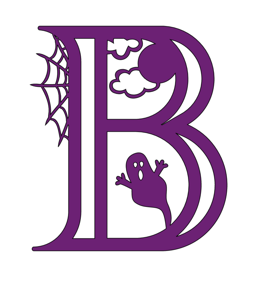 Cricut Halloween Alphabet, b