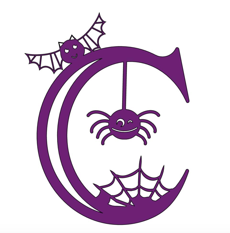 Cricut Halloween Alphabet, c