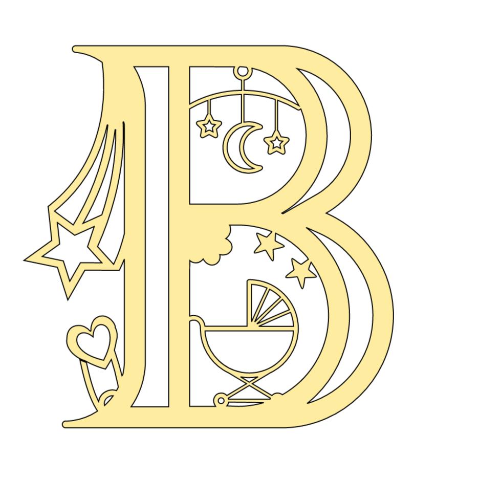 Cricut Baby Alphabet Letter B
