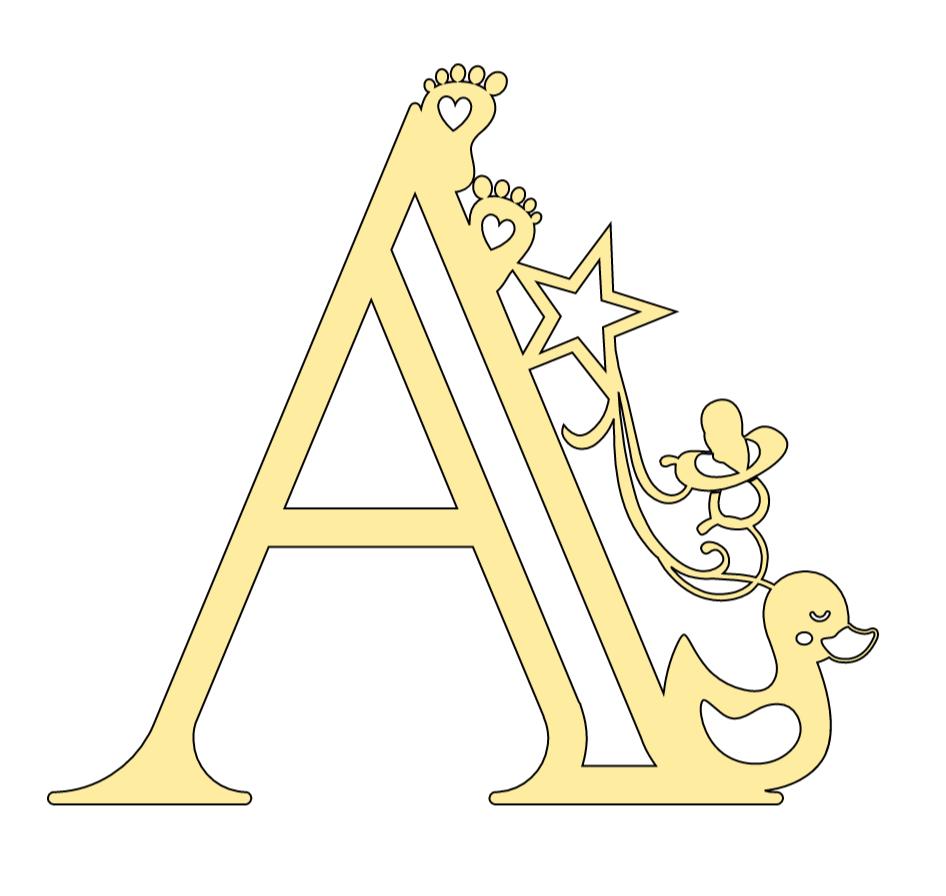 Cricut Baby Alphabet Letter A