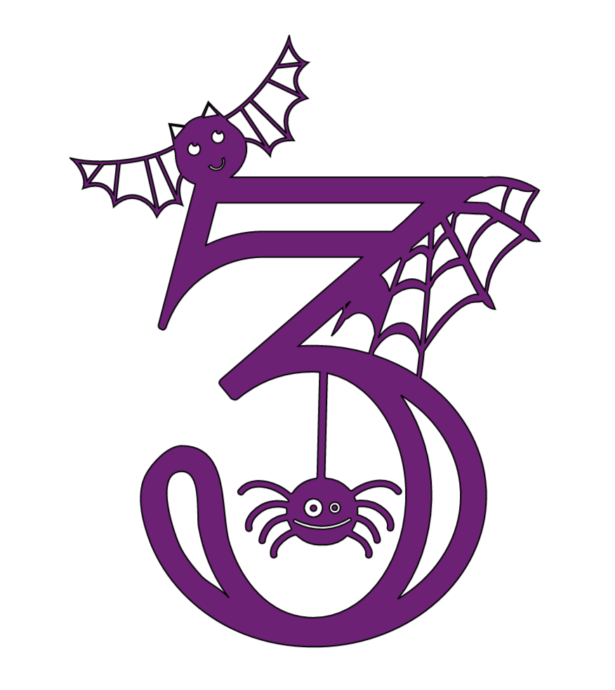 Cricut Halloween numbers, 3