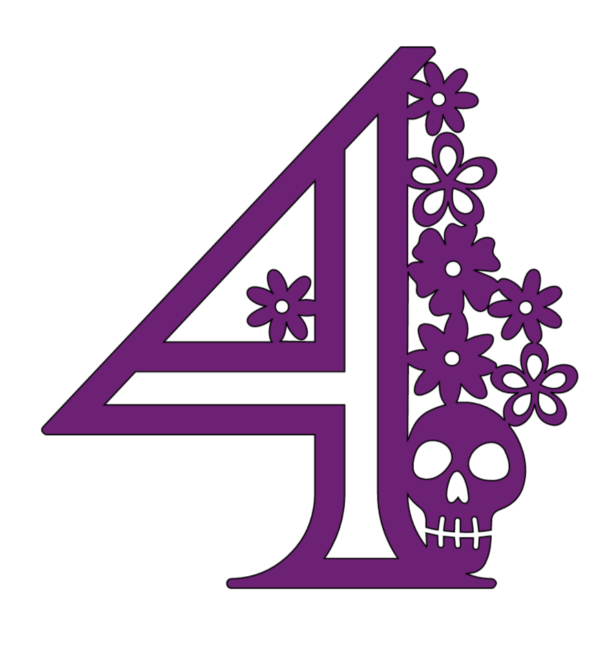 Cricut Halloween numbers, 4
